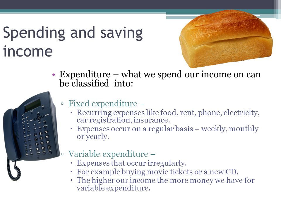 Spending and saving income