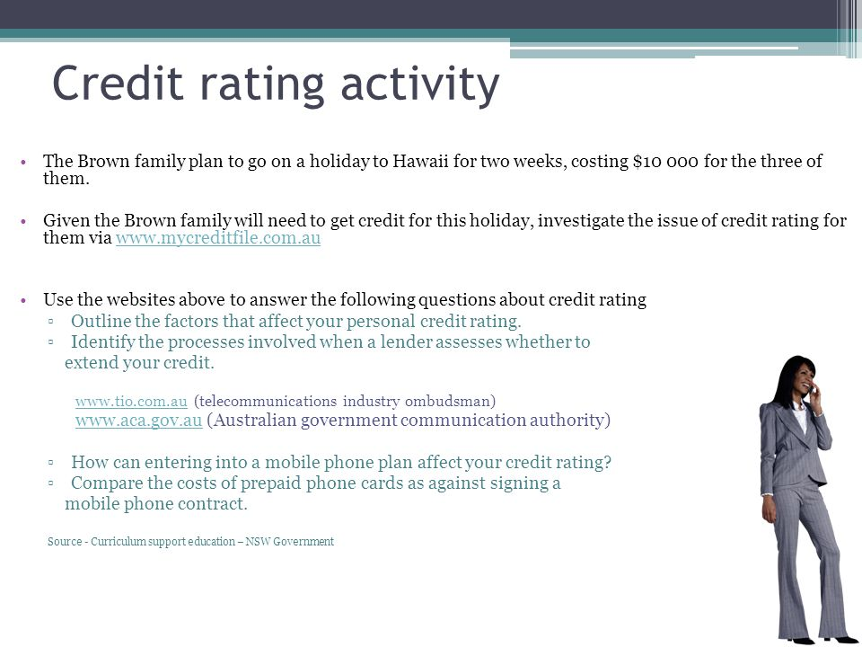 Credit rating activity
