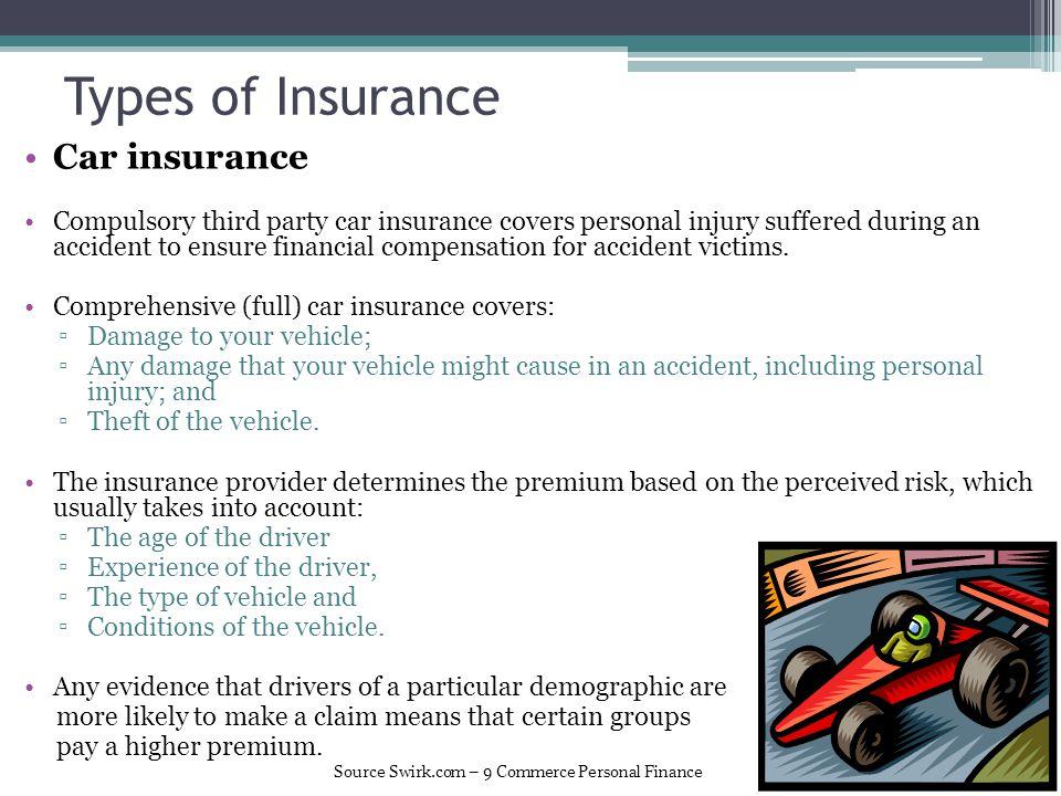 Types of Insurance Car insurance