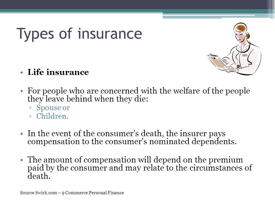 Types of insurance Life insurance