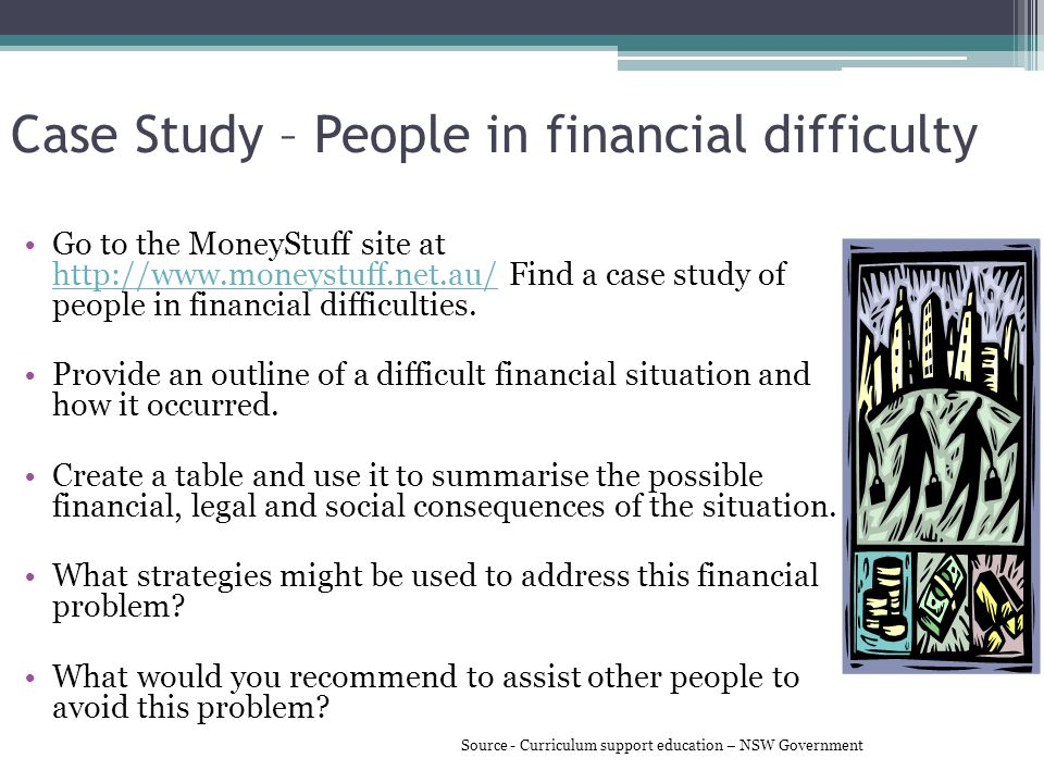 Case Study – People in financial difficulty
