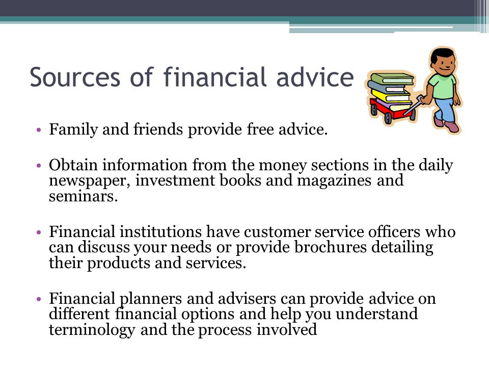 Sources of financial advice