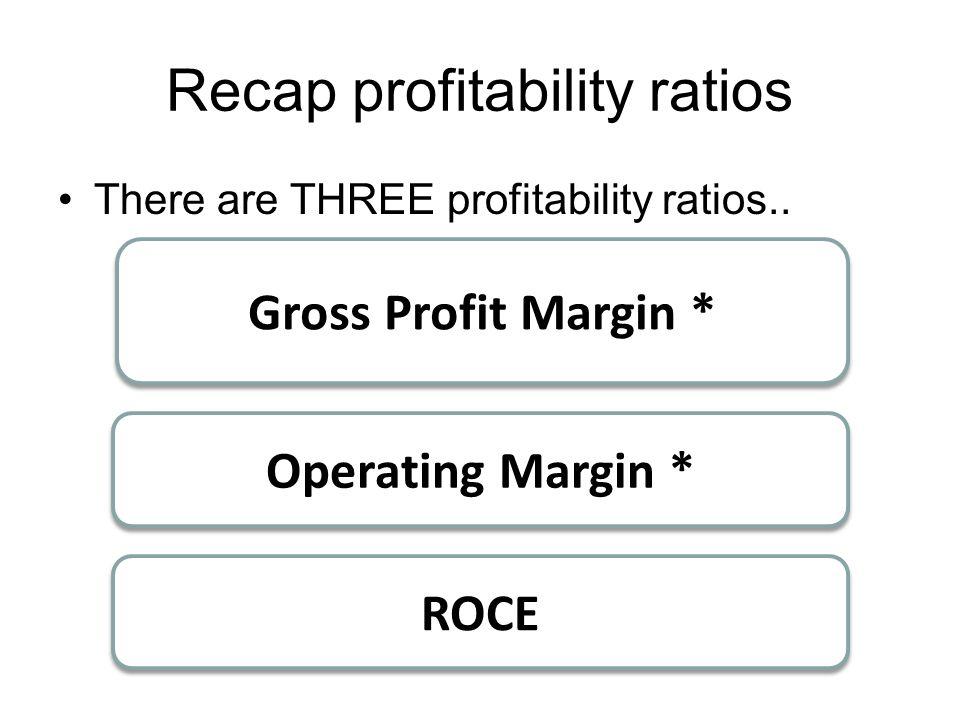 Recap profitability ratios