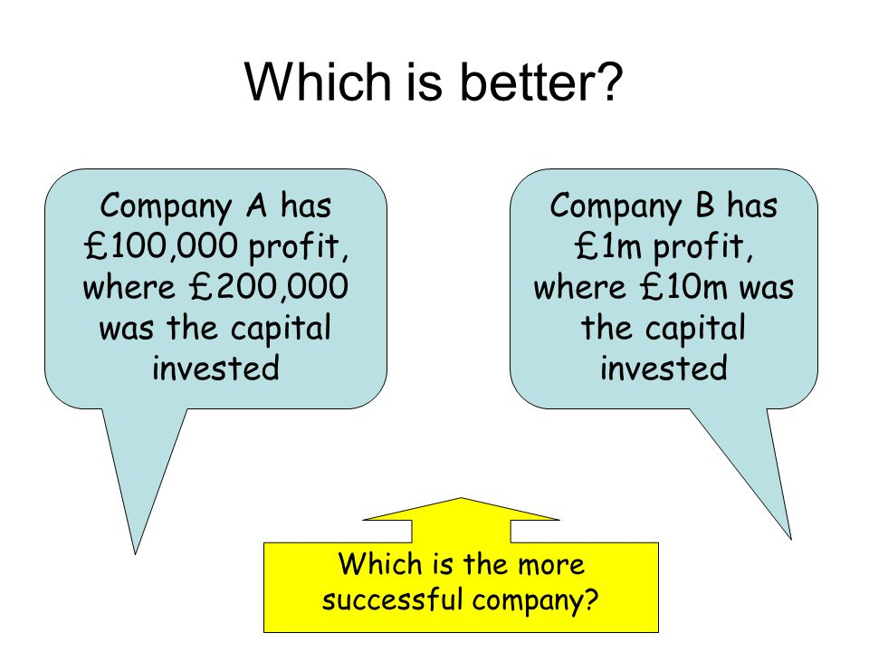 Which is better Company A has