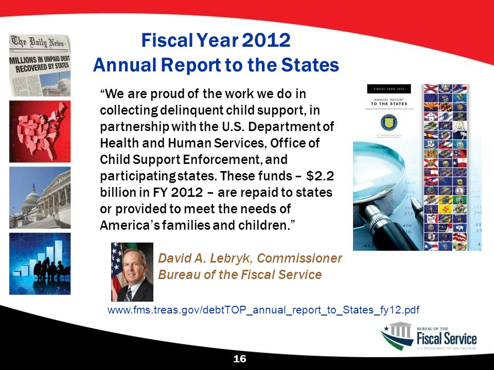 Fiscal Year 2012 Annual Report to the States