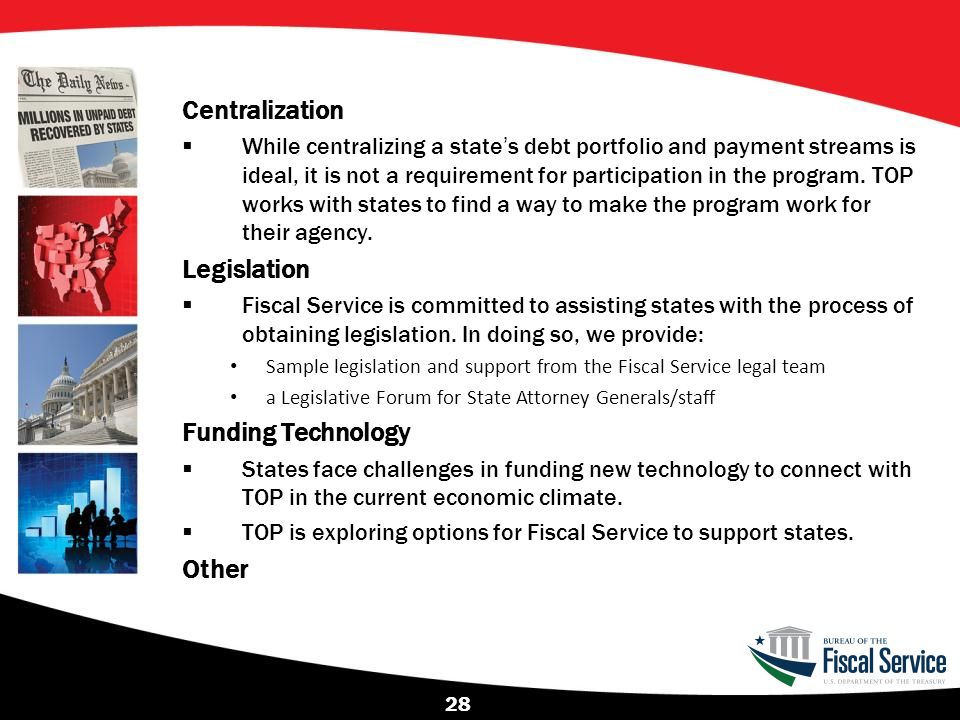 Centralization Legislation Funding Technology Other