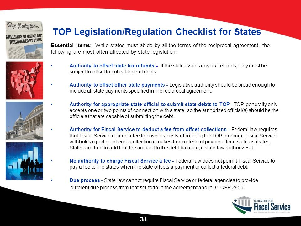 TOP Legislation/Regulation Checklist for States