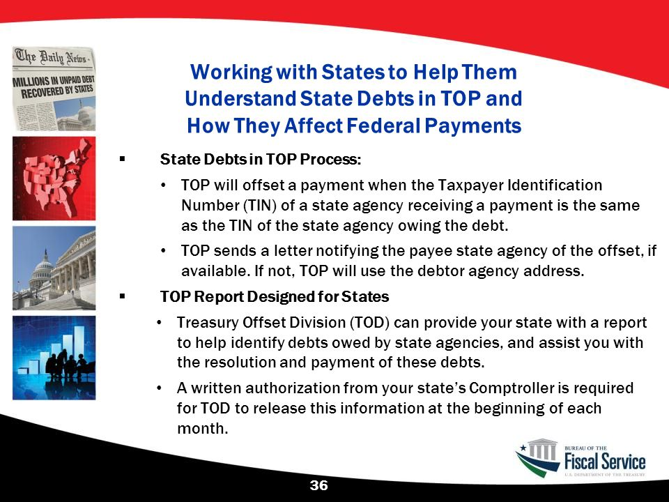 Working with States to Help Them Understand State Debts in TOP and How They Affect Federal Payments