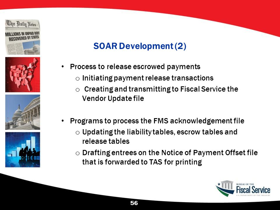 SOAR Development (2) Process to release escrowed payments