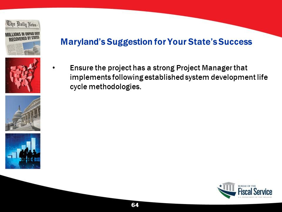 Maryland's Suggestion for Your State's Success
