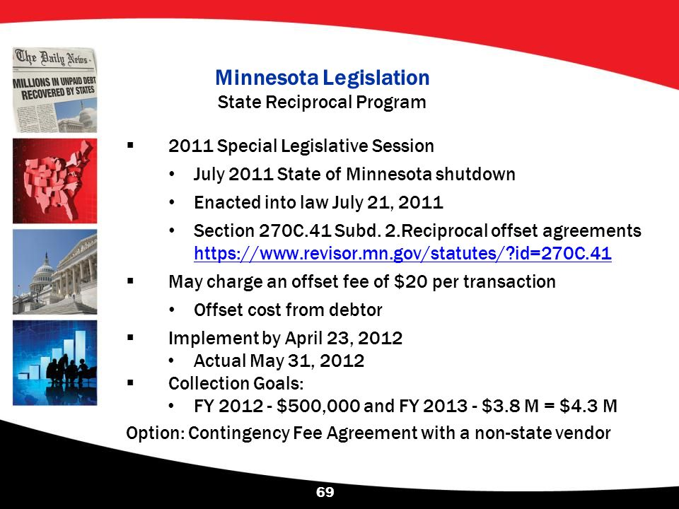 Minnesota Legislation State Reciprocal Program