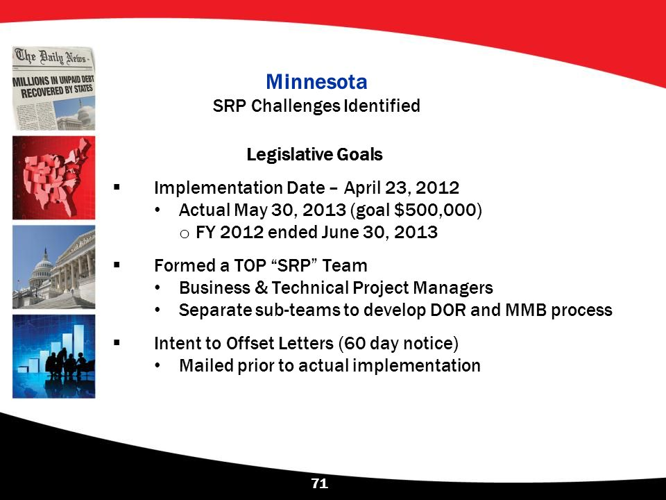 Minnesota SRP Challenges Identified
