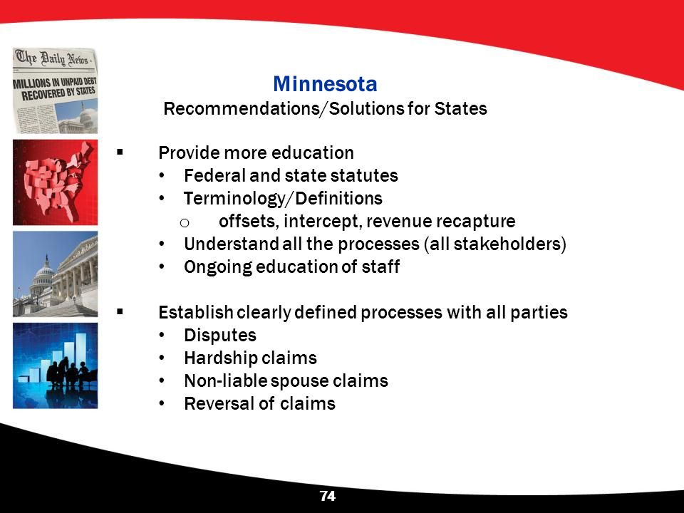 Minnesota Recommendations/Solutions for States