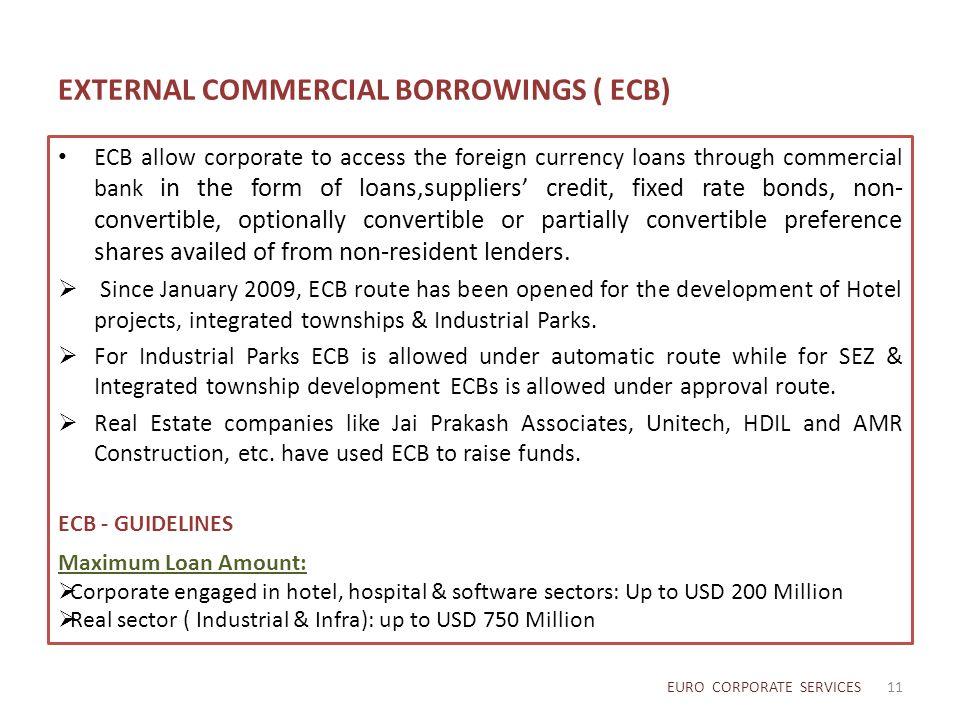 EXTERNAL COMMERCIAL BORROWINGS ( ECB)
