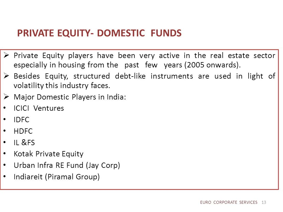 PRIVATE EQUITY- DOMESTIC FUNDS