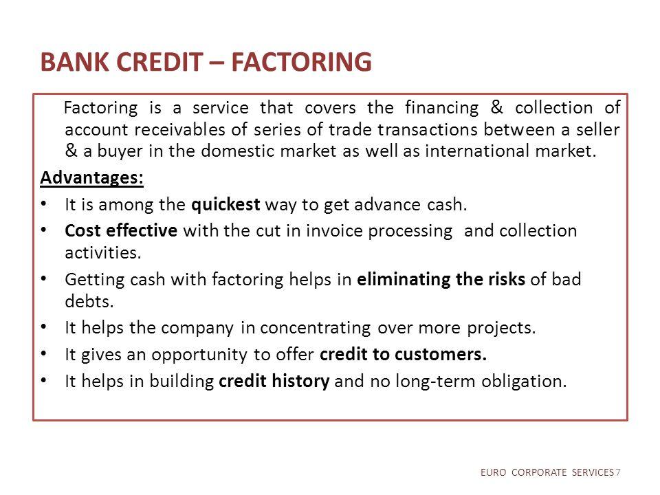 BANK CREDIT – FACTORING