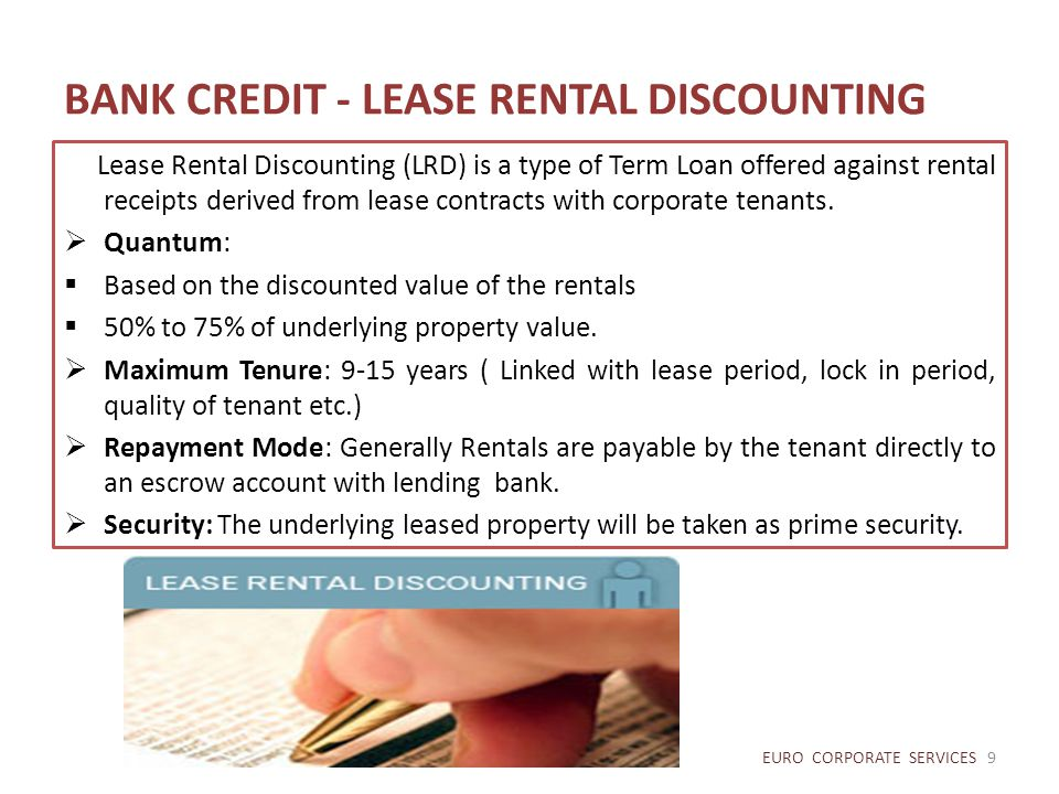 BANK CREDIT - LEASE RENTAL DISCOUNTING