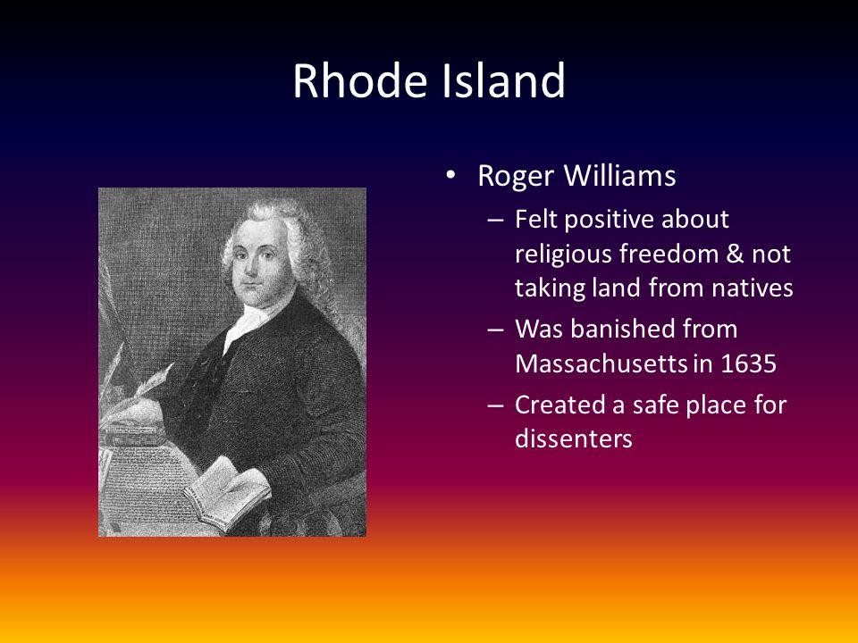 Rhode Island Roger Williams