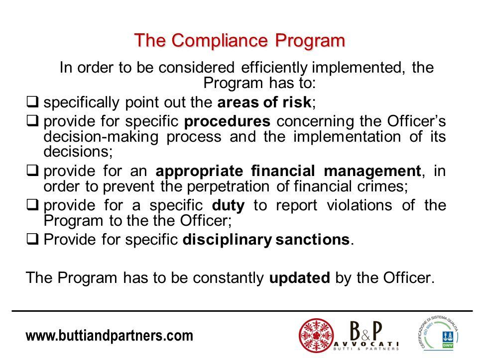 The Compliance Program