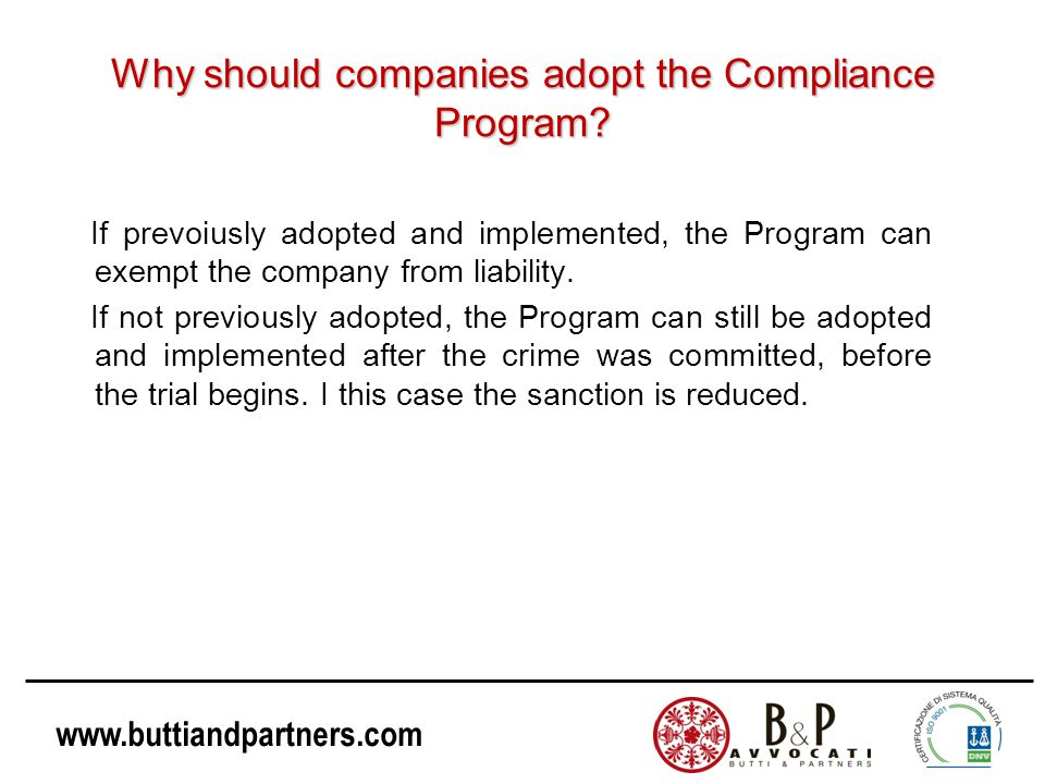 Why should companies adopt the Compliance Program