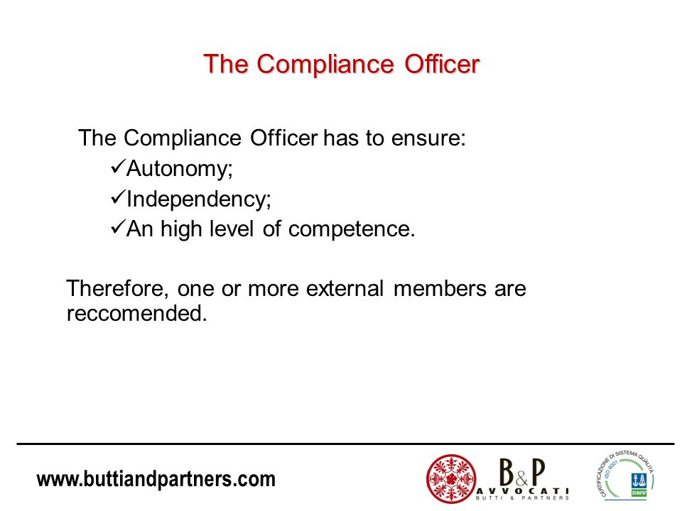The Compliance Officer