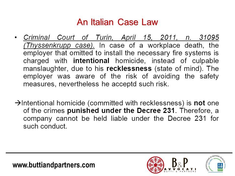 An Italian Case Law
