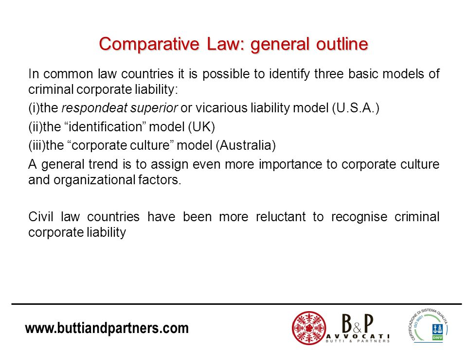 Comparative Law: general outline