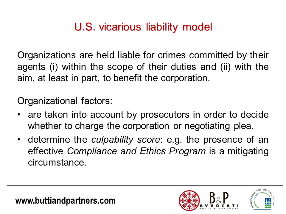 U.S. vicarious liability model