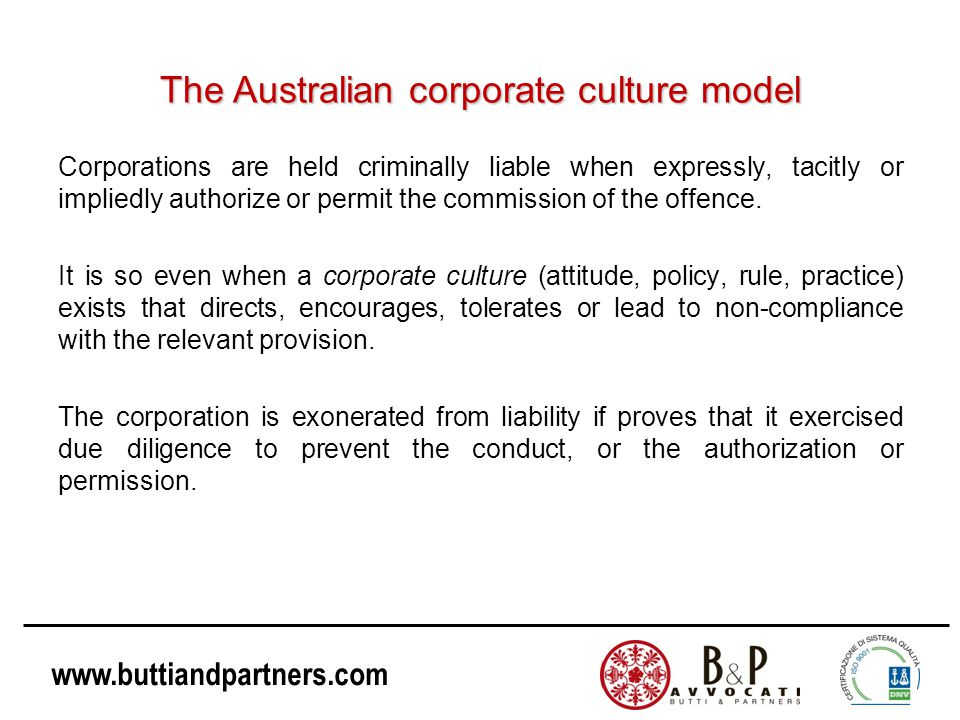 The Australian corporate culture model