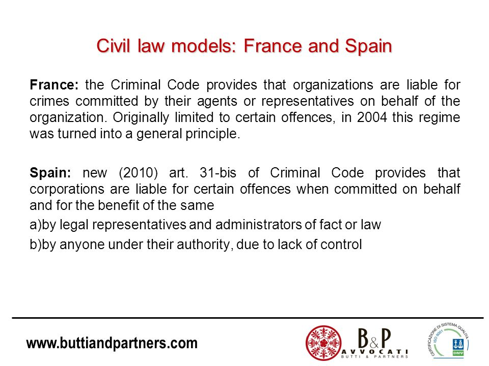 Civil law models: France and Spain
