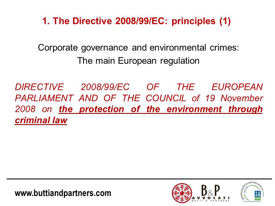 1. The Directive 2008/99/EC: principles (1)