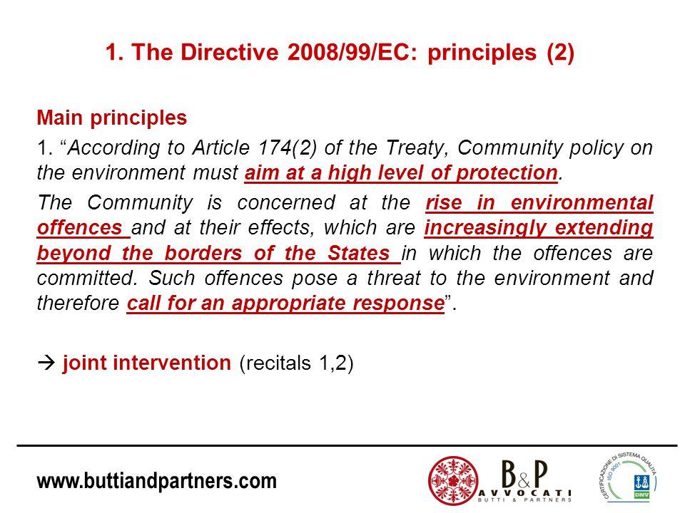 1. The Directive 2008/99/EC: principles (2)