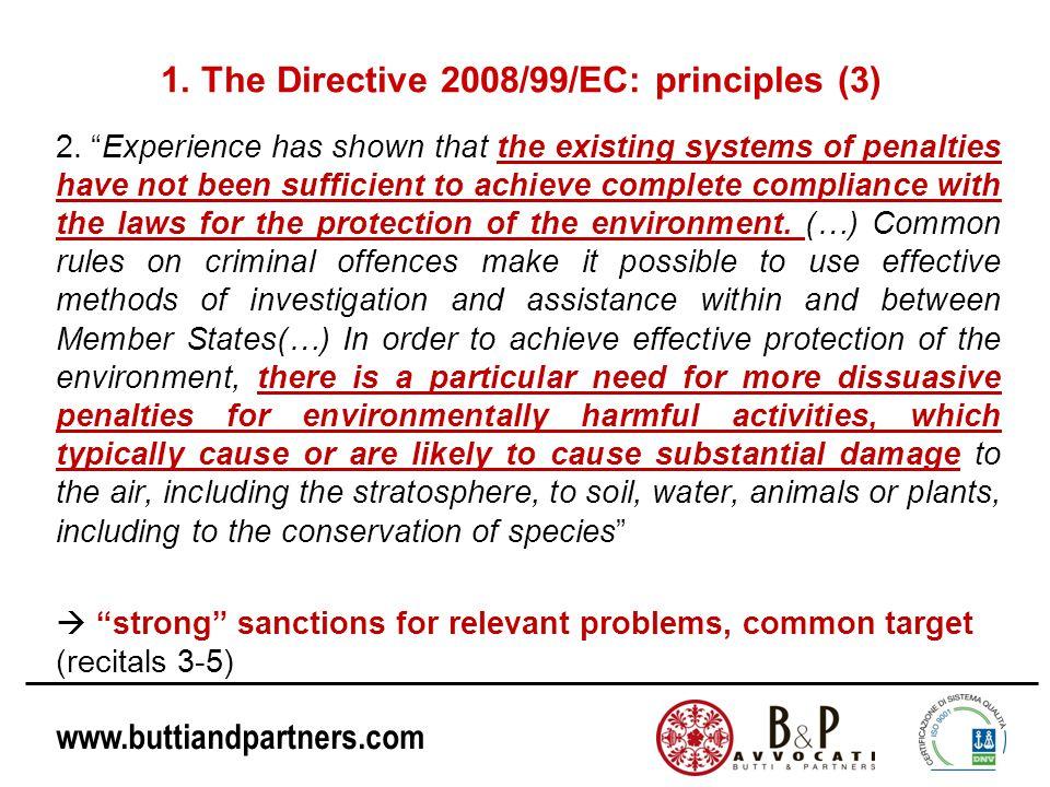 1. The Directive 2008/99/EC: principles (3)