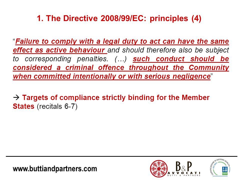 1. The Directive 2008/99/EC: principles (4)