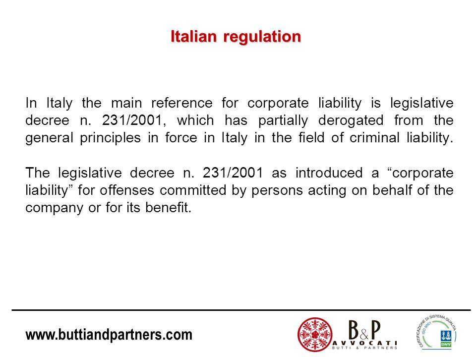 Italian regulation