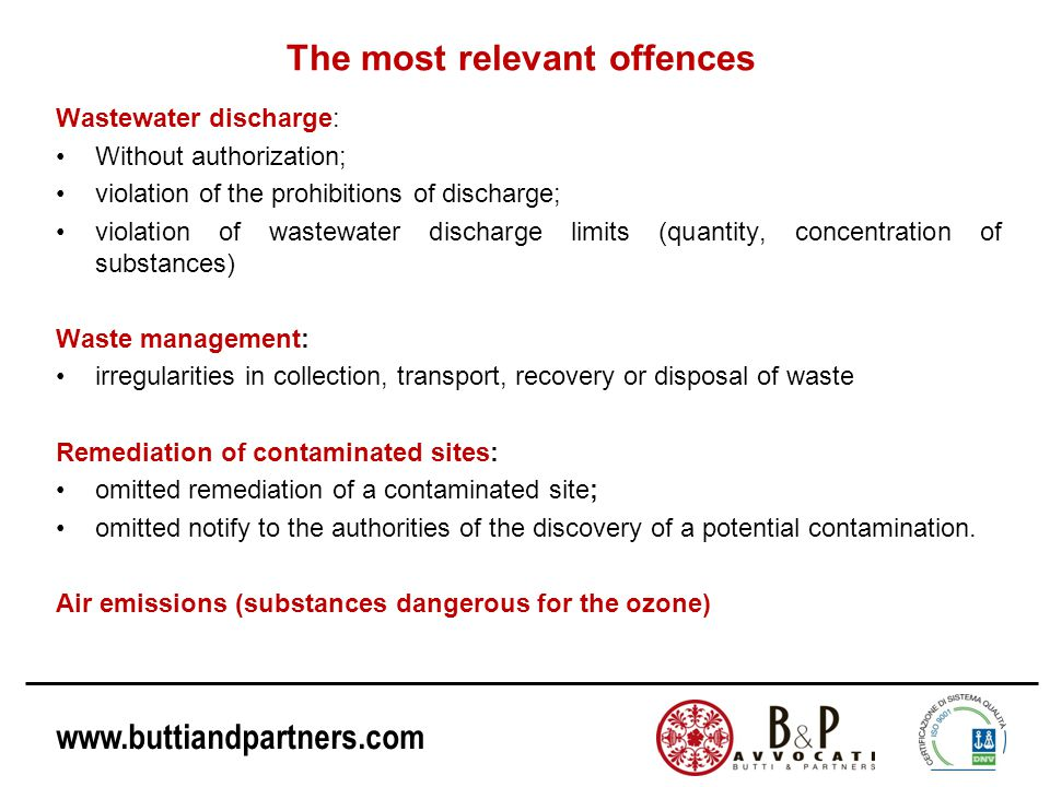 The most relevant offences