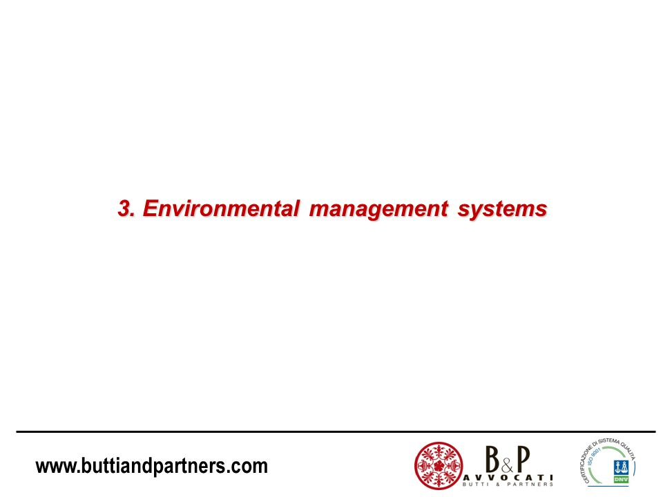 3. Environmental management systems