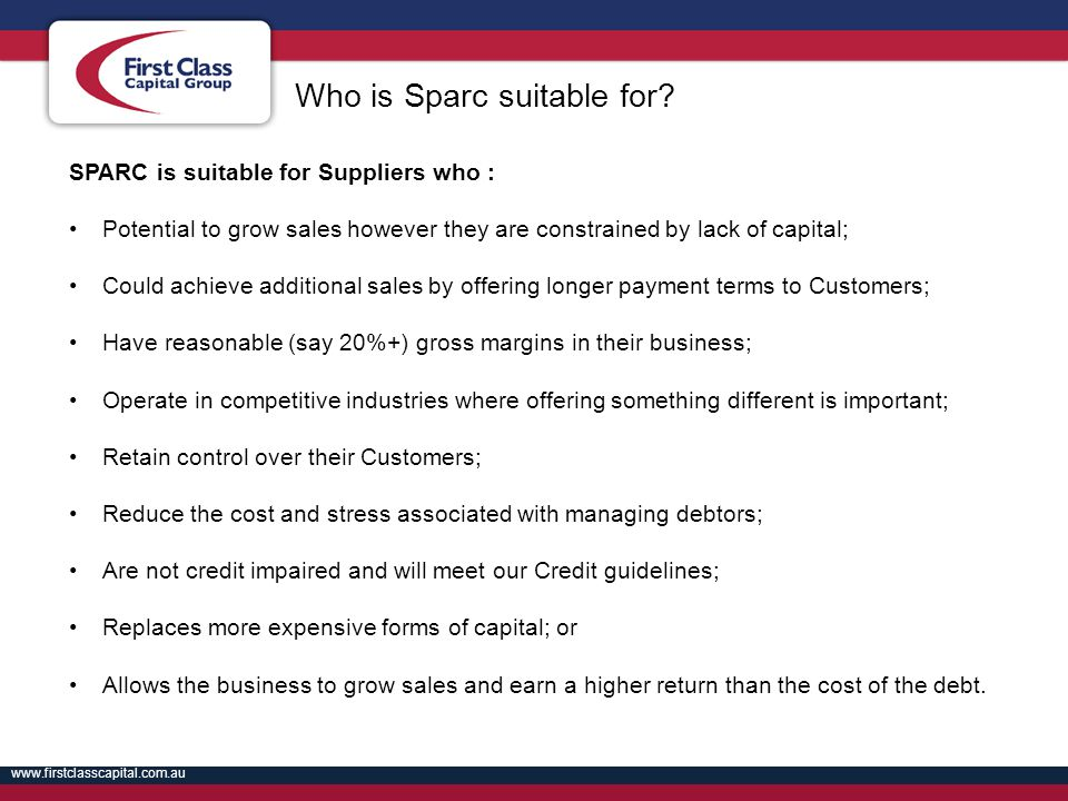 Who is Sparc suitable for