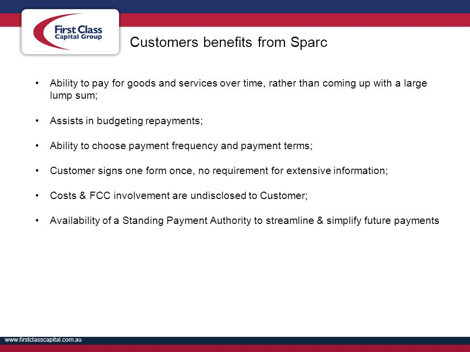 Customers benefits from Sparc