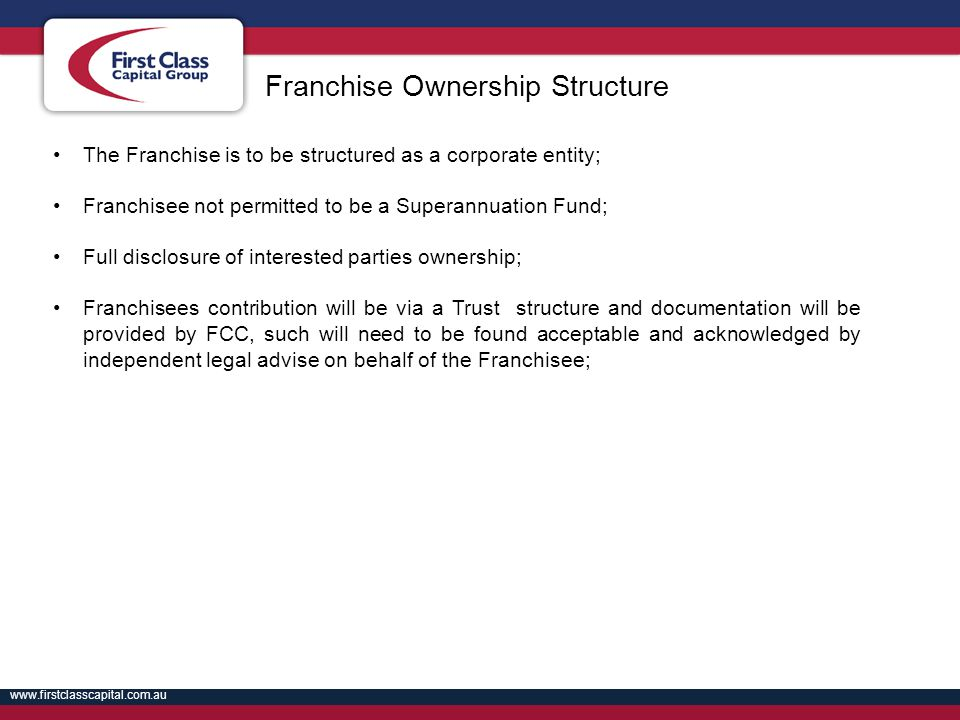 Franchise Ownership Structure
