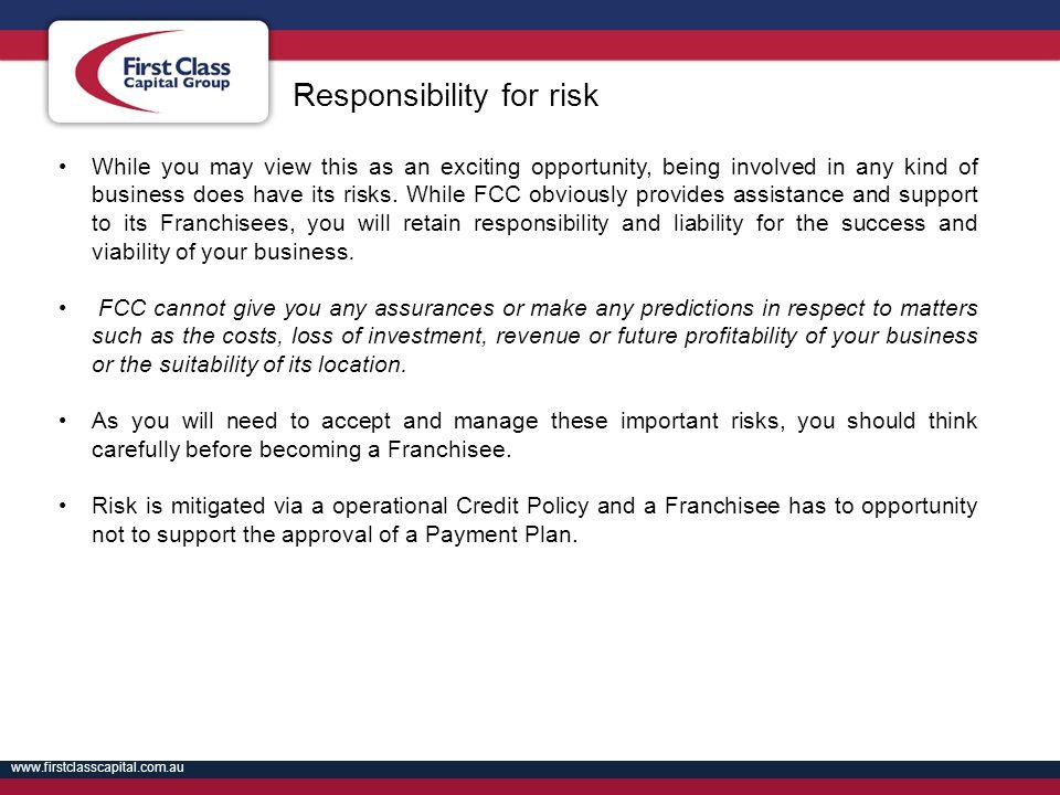 Responsibility for risk