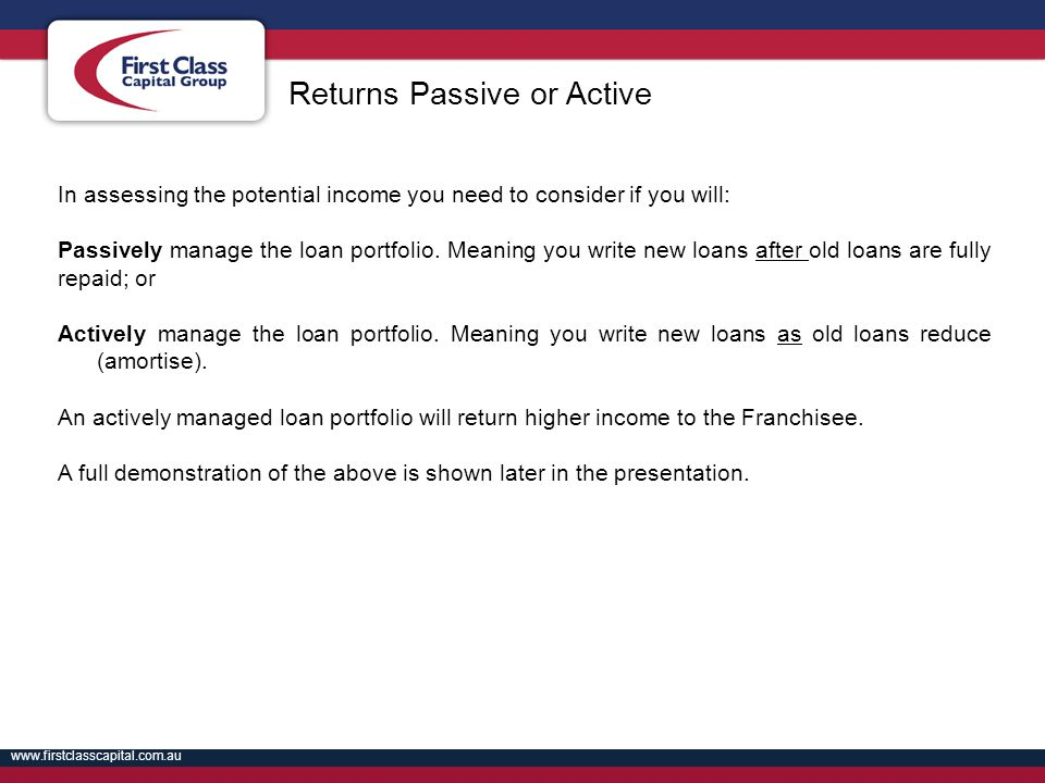 Returns Passive or Active