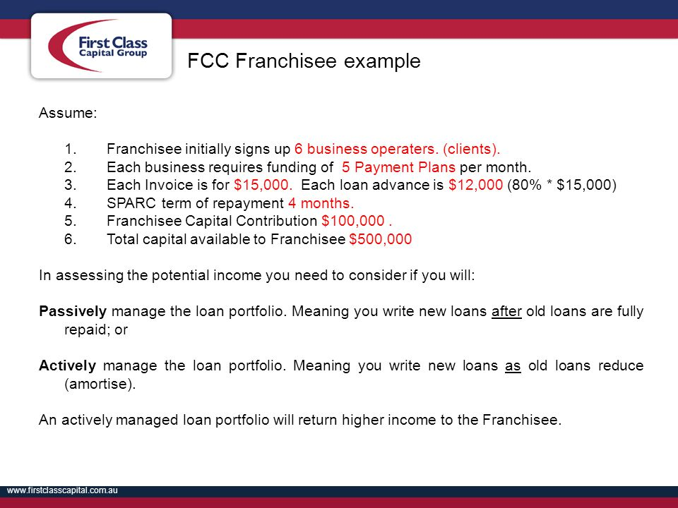 FCC Franchisee example