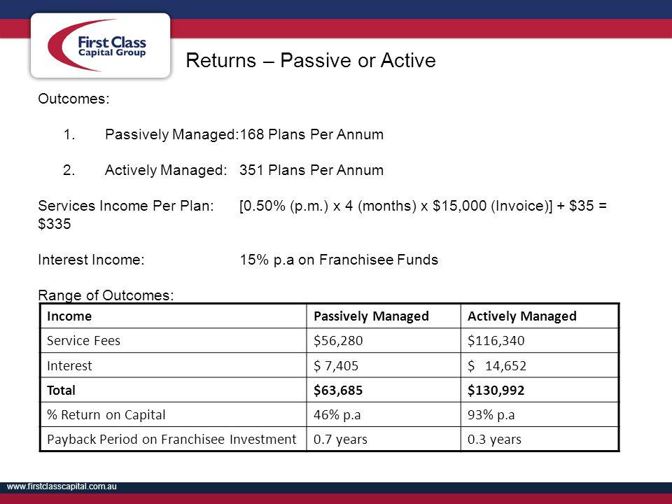 Returns – Passive or Active