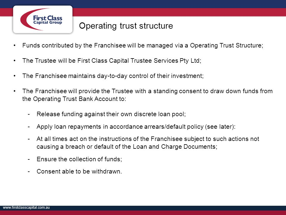 Operating trust structure