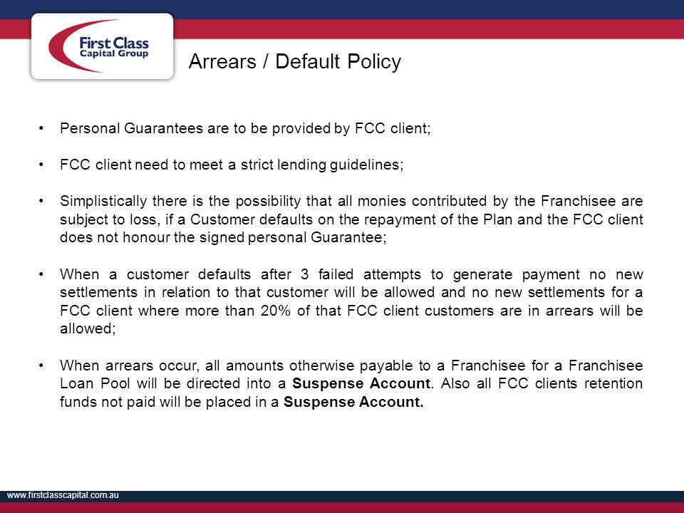 Arrears / Default Policy
