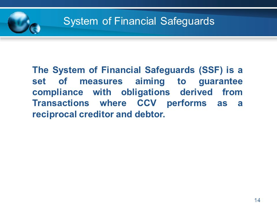 System of Financial Safeguards