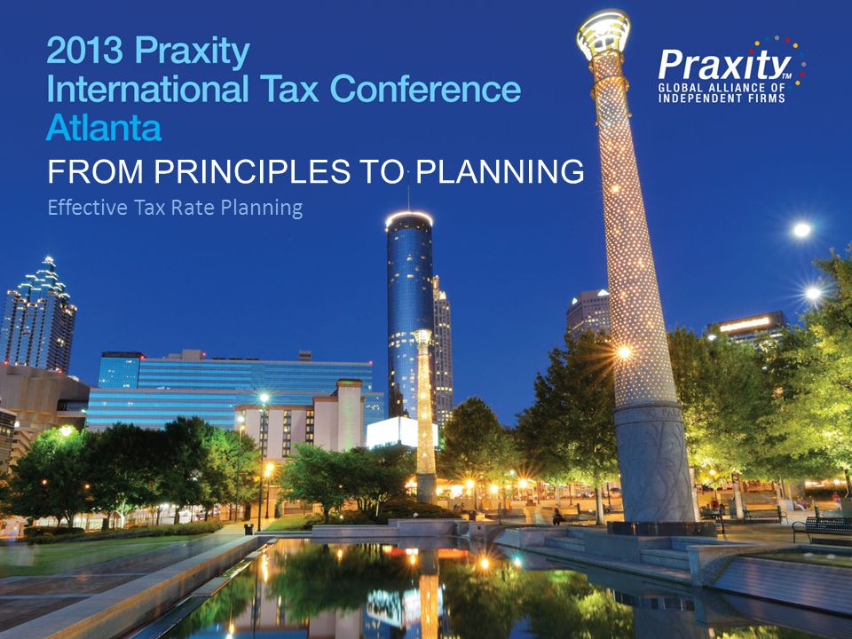 FROM PRINCIPLES TO PLANNING