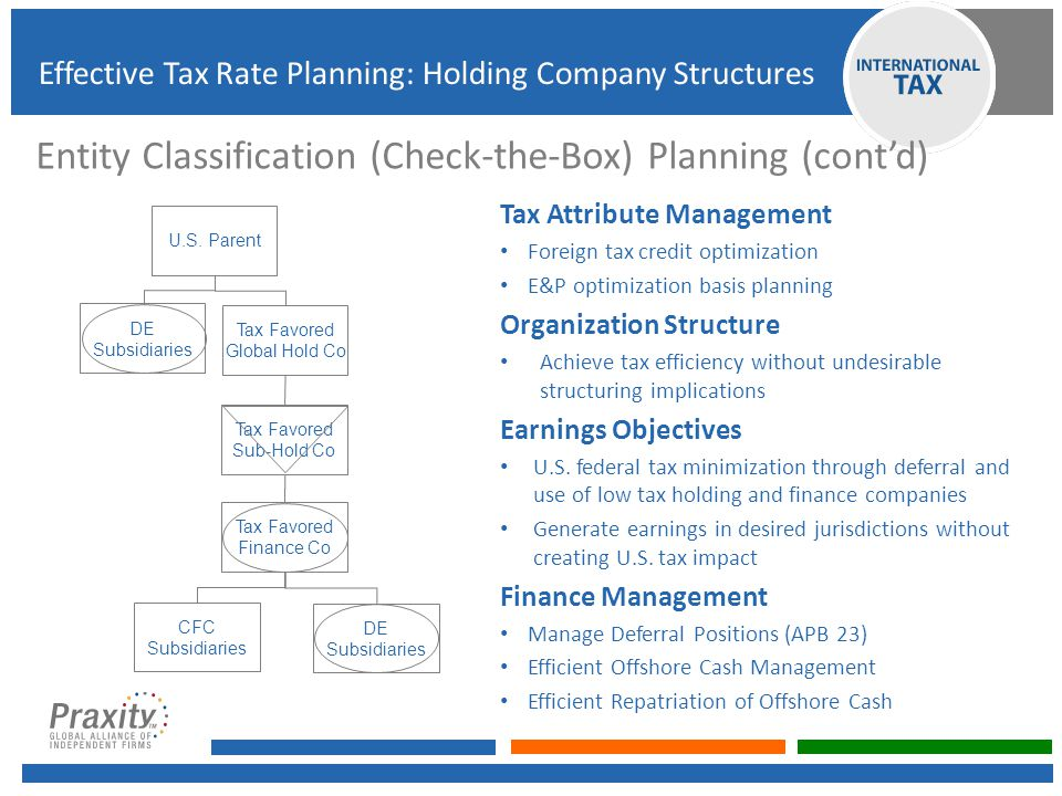 Entity Classification (Check-the-Box) Planning (cont'd)