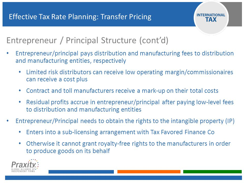Entrepreneur / Principal Structure (cont'd)